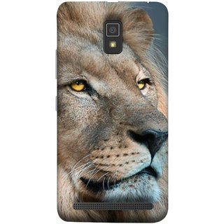 FUSON Designer Back Case Cover For Lenovo A6600 (Jungle King Stearing Aslan Painting Oil Art )