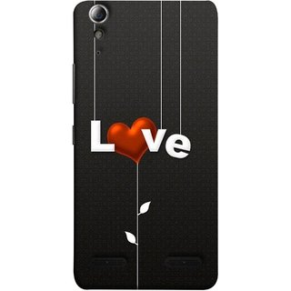 FUSON Designer Back Case Cover For Lenovo A6000 Plus :: Lenovo A6000+ :: Lenovo A6000 (Red Hearts Hanging Ropes Free Love Tree Multicolour)
