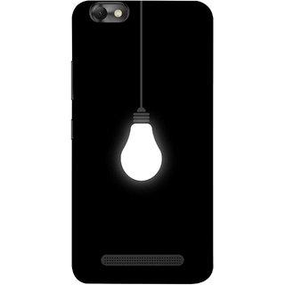 FUSON Designer Back Case Cover For Lenovo Vibe C :: Lenovo A2020 (Hanging Light Bulb In Dark Room Ceiling Darkness )