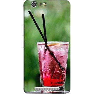 FUSON Designer Back Case Cover For Gionee Marathon M5 (Glass Full Of Cold Fresh Squeezed Watermelon Juice)