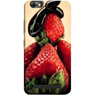 FUSON Designer Back Case Cover For Lenovo Vibe C :: Lenovo A2020 (Best Fresh Strawberry Sweet Dish Homemade Recipes)