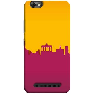 FUSON Designer Back Case Cover For Lenovo Vibe C :: Lenovo A2020 (Astounding Skyscrapers Of Remarkable Architectural)