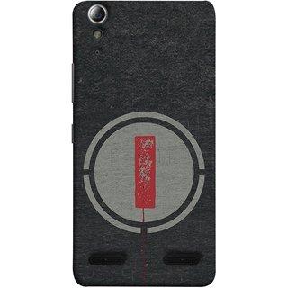 FUSON Designer Back Case Cover For Lenovo A6000 :: Lenovo A6000 Plus :: Lenovo A6000+ (Dark Alphabet Circle Vintage Grey Circle Pattern I)