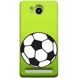 FUSON Designer Back Case Cover For Lenovo A7700 (Football Ground Ball Black White Fifa League )