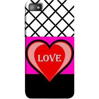 FUSON Designer Back Case Cover For BlackBerry Z10 (Pink Red Wallpapers Flowers Lovers Boyfriends Black)