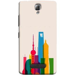 FUSON Designer Back Case Cover For Lenovo A2010 (Astounding Skyscrapers Of Remarkable Architectural)