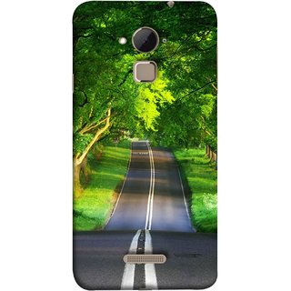 FUSON Designer Back Case Cover For Coolpad Note 3 Lite :: Coolpad Note 3 Lite Dual SIM (Road Surrounded By Mountains Beautiful Old Trees )