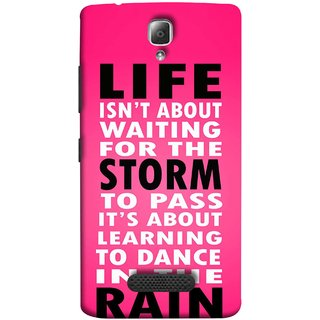 FUSON Designer Back Case Cover For Lenovo A2010 (To Pass Its About Learning To Dance In Rain Life)