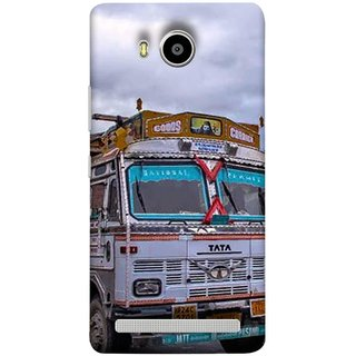 FUSON Designer Back Case Cover For Lenovo A7700 (Decorated Goods Carrier On Mountain Road In The Himalayas )