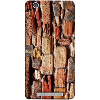 FUSON Designer Back Case Cover For Gionee Marathon M5 Lite (Irregular Shapes Ancient Different Sizes Wallpaper)
