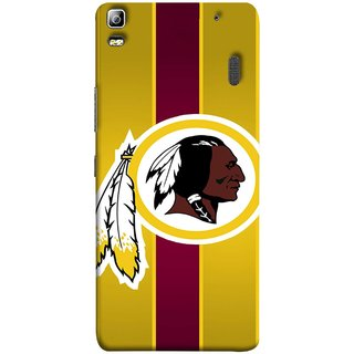 FUSON Designer Back Case Cover For Lenovo K3 Note :: Lenovo A7000 Turbo (Yellow Circles White Yellow And Maroon Vertical)