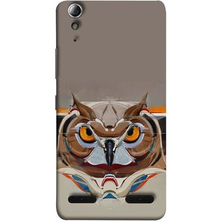 FUSON Designer Back Case Cover For Lenovo A6000 Plus :: Lenovo A6000+ :: Lenovo A6000 (Multicolour Owl Perfect Look King Bird Night Tree )