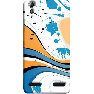 FUSON Designer Back Case Cover For Lenovo A6000 :: Lenovo A6000 Plus :: Lenovo A6000+ (Paint And Patches Artist Perfect Waves Black )