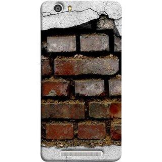 FUSON Designer Back Case Cover For Gionee Marathon M5 Lite (Peeling Plaster Bricks White Cement Broken Small Big)