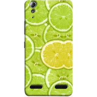 FUSON Designer Back Case Cover For Lenovo A6000 Plus :: Lenovo A6000+ :: Lenovo A6000 (Lemon Lime Sweet Agriculture Farm Fresh Cut Cell)