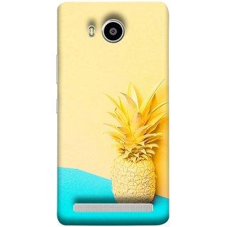 FUSON Designer Back Case Cover For Lenovo A7700 (Light Yellow Cream Pineapple Lamp Ananas)
