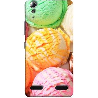 FUSON Designer Back Case Cover For Lenovo A6000 :: Lenovo A6000 Plus :: Lenovo A6000+ (Colourful Ice Cream Berry Cherry Pista Flavours )
