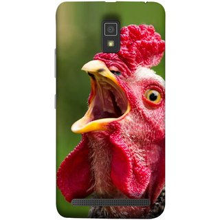 FUSON Designer Back Case Cover For Lenovo A6600 (A Crowing Chicken Green Grass Village Morning )