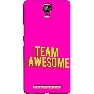 FUSON Designer Back Case Cover For Gionee Marathon M5 Plus (Teamwork Is Best Hardwork Alltogether Result Best)