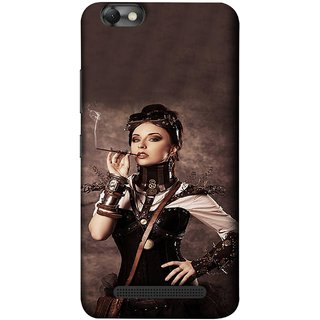 FUSON Designer Back Case Cover For Lenovo Vibe C :: Lenovo A2020 (Mad Men Beauty Moments Betty Draper Smoking )