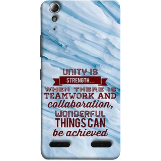 FUSON Designer Back Case Cover For Lenovo A6000 Plus :: Lenovo A6000+ :: Lenovo A6000 (Teamwork And Collaboration Wonderful Things Achieve)