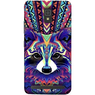 FUSON Designer Back Case Cover For Lenovo A6600 (Dog Cat Kitten Whisker Puppy Triangle Rectangle)