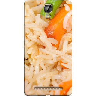 FUSON Designer Back Case Cover For Gionee Marathon M5 Plus (Veg Rice Hot With Raita White Top Recipes Food)