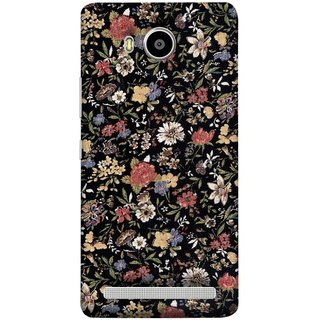 FUSON Designer Back Case Cover For Lenovo A7700 (Cotton Quilt Fabric Susie Butterfly Floral )