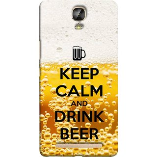 FUSON Designer Back Case Cover For Gionee Marathon M5 Plus (Beer Sign Glasses Bubbles Daaru Drink Wine Vodka)