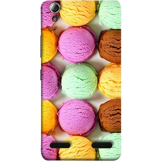 FUSON Designer Back Case Cover For Lenovo A6000 Plus :: Lenovo A6000+ :: Lenovo A6000 (Cherry Flowers Hearts Lemons Almonds Cashews Pista)