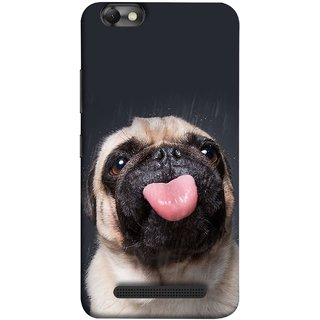 FUSON Designer Back Case Cover For Lenovo Vibe C :: Lenovo A2020 (Kissing Hanging Out Black And White Cream Colour)