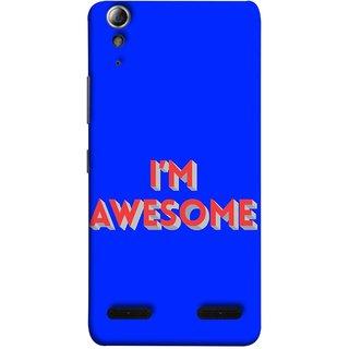 FUSON Designer Back Case Cover For Lenovo A6000 Plus :: Lenovo A6000+ :: Lenovo A6000 (I Am Lovely Wow Fact Motivational Inspirational Words)