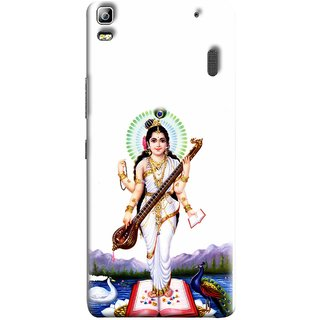 FUSON Designer Back Case Cover For Lenovo K3 Note :: Lenovo A7000 Turbo (Goddess Of Knowledge Eloquence Learning Saraswati)
