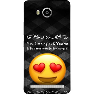 FUSON Designer Back Case Cover For Lenovo A7700 (Damn Beautiful To Change It Hearts Love Pure Smiley)