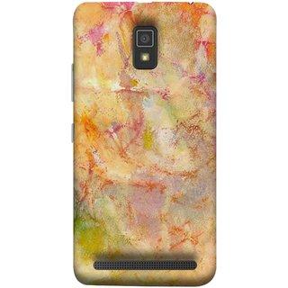 FUSON Designer Back Case Cover For Lenovo A6600 (Colors Yellow Light Bright Paint Wallpaper Design )