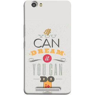 FUSON Designer Back Case Cover For Gionee Marathon M5 Lite (White Background Inspiration Quote Red Orange Font )