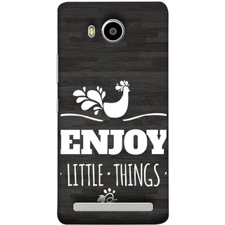 FUSON Designer Back Case Cover For Lenovo A7700 (Nice Beautiful Peacock Design With Texts In White)