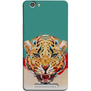 FUSON Designer Back Case Cover For Gionee Marathon M5 Lite (Multicolour Tigers Leopard Perfect Look King Night Tree)
