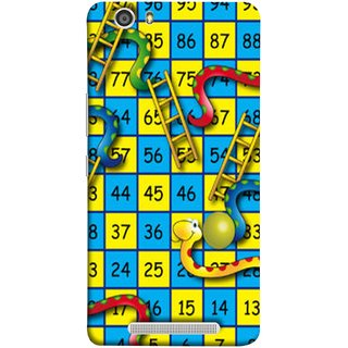 FUSON Designer Back Case Cover For Gionee Marathon M5 Lite (Dice Pair Nice Game India Blue Children Squares Girls )