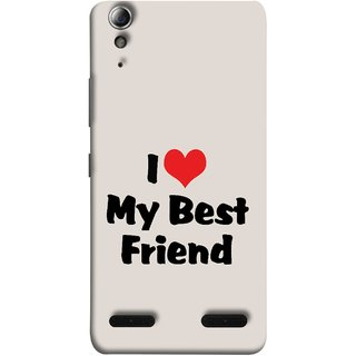 FUSON Designer Back Case Cover For Lenovo A6000 Plus :: Lenovo A6000+ :: Lenovo A6000 (Lover True And Pure Friendship Day Hearts Forever)