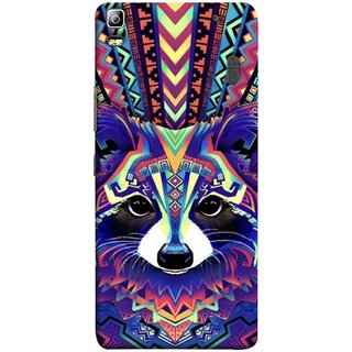 FUSON Designer Back Case Cover For Lenovo K3 Note :: Lenovo A7000 Turbo (Dog Cat Kitten Whisker Puppy Triangle Rectangle)