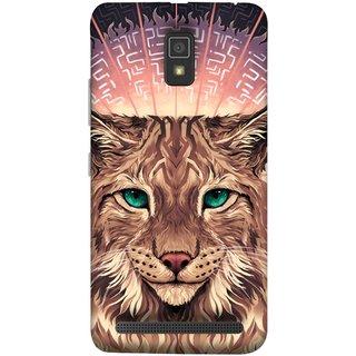 FUSON Designer Back Case Cover For Lenovo A6600 (Green Ankho Wali Billi Cats Sunshine Concentrate)