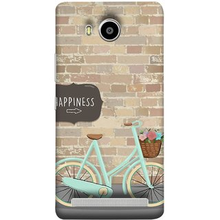 FUSON Designer Back Case Cover For Lenovo A7700 (Bicycle Ride With Flowers And Way To Happy )