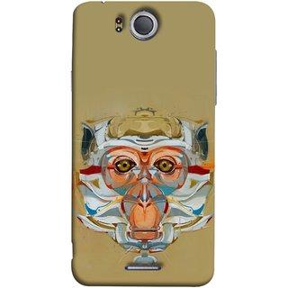 FUSON Designer Back Case Cover For InFocus M530 (Multicolour Cat Monkey King Animal Tree )
