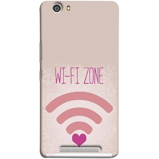 FUSON Designer Back Case Cover For Gionee Marathon M5 Lite (Love Wifi Zone Connect With Lovers Couples Hearts)