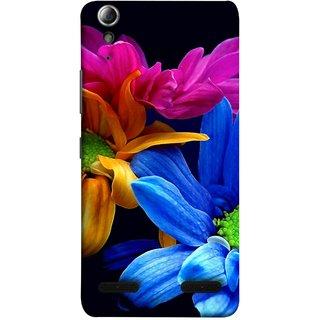 FUSON Designer Back Case Cover For Lenovo A6000 Plus :: Lenovo A6000+ :: Lenovo A6000 (Colourful Wow Hd Gerbera Flowers Pink Blur Orange)