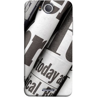 FUSON Designer Back Case Cover For InFocus M530 (Four Packs Newspapers Ready To Distribution Readers.)