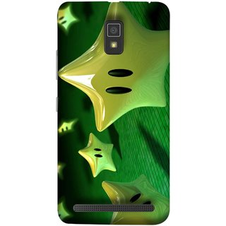 FUSON Designer Back Case Cover For Lenovo A6600 (Shy Many Gold Star Cartoon Emoji Emotions In Air )