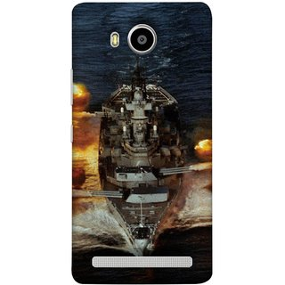 FUSON Designer Back Case Cover For Lenovo A7700 (Indian Submarine Shoots Ship With Missile Training )