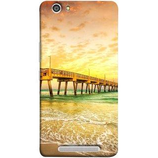FUSON Designer Back Case Cover For Gionee Marathon M5 Lite (Jetty Wharf Clear Water Newzeland India Beaches)
